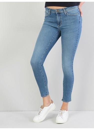 Colin's 759 Lara Super Slim Fit Orta Bel Skinny Leg Kadın Jean Pantolon Mavi